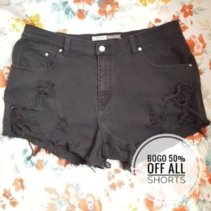 St. John's Bay Shorts - Black CutOff Shorts Booty Ripped Destroyed Jeans